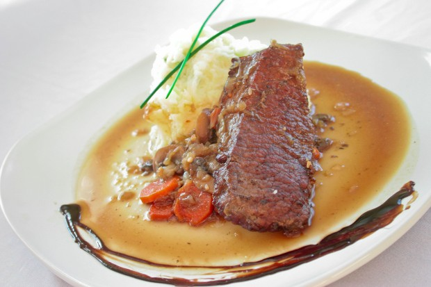 Amie's Guinness-Braised Steak with Horseradish Mashed Potatoes