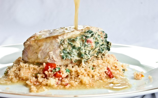 Amie's Stuffed Pork Chops and Couscous